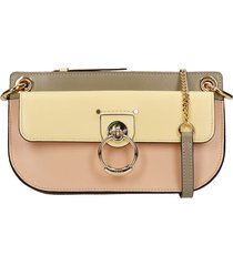 chloé tess clutch in gold leather