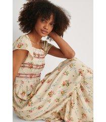na-kd boho smock printed dress - multicolor