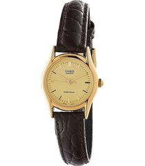 reloj casio ltp-1094q-9a analogo 100% original-dorado