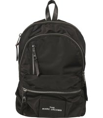 marc jacobs logo patched backpack