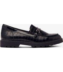 loafers med krokomönster