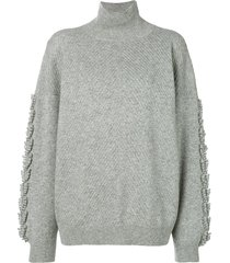 barrie troisieme dimension cashmere turtleneck pullover - grey
