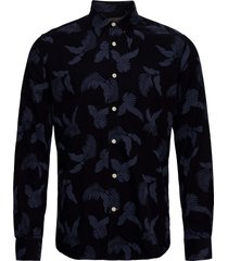 ashton button under shirt skjorta casual blå morris