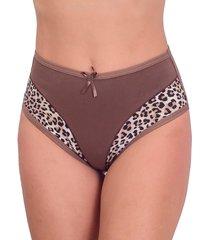 calcinha vip lingerie detalhes com estampa castanho