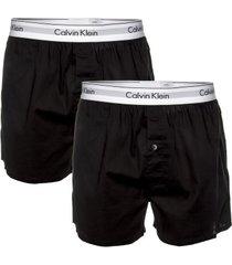 calvin klein 2 stuks modern cotton woven slim fit boxer * gratis verzending *