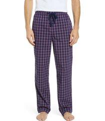 men's nordstrom men's shop poplin pajama pants, size x-large - red