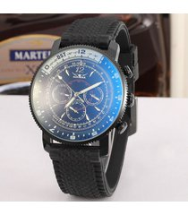 mecánico reloj azul vidrio moda casual reloj-negro