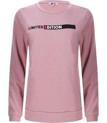buzo mujer limited edition color rosado, talla xs