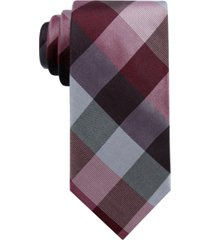 ryan seacrest distinction men's weho check slim silk tie, created for macy's