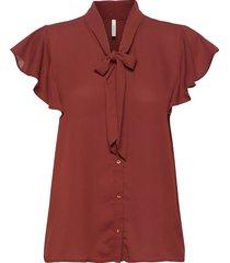 sc-cemre blouses short-sleeved röd soyaconcept