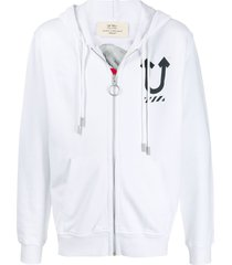 off-white x undercover hand print hoodie