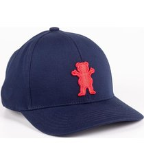 bone grizzly og bear baseball cap 6 panel azul marinho