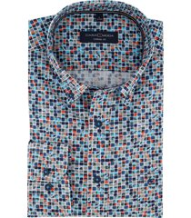casa moda overhemd blokjes casual fit