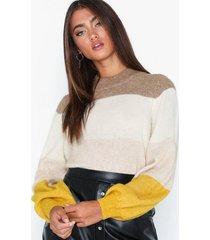 selected femme slfanna ls x-mas knit o-neck b stickade tröjor
