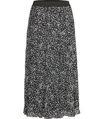 sally midi skirt print knälång kjol svart soft rebels