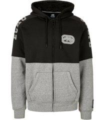ecko unltd men's pieced together full zip sherpa hoodie