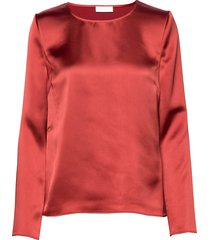 2nd houston blouse lange mouwen rood 2ndday