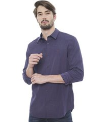 camisa calvin klein cashmere seasonal  azul - calce regular