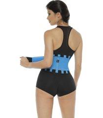 cinturon deportivo body line control 5010 turquesa