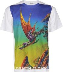 valentino multicolor cotton t-shirt