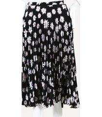 balenciaga floral crepe skirt black/white sz: s