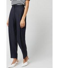 victoria, victoria beckham women's tapered trousers - midnight blue - uk 8