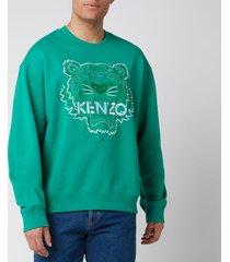kenzo men's bicolor tiger icon sweatshirt - grass green - xxl