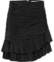 striped velvet skirt kort kjol svart maud