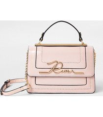 river island womens pink 'river' large satchel bag