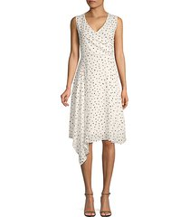 dot-print asymmetrical dress