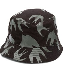 mcq swallow all-over swallow print bucket hat - green