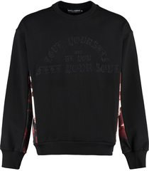 dolce & gabbana embroidered cotton sweatshirt