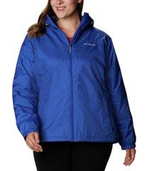 columbia plus size lined rain jacket