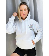 womens all in this together charity graphic hoodie - white