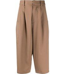 ambush loose-fit shorts - brown