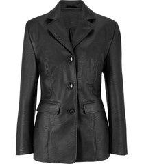 blazer lungo in similpelle (nero) - bpc bonprix collection
