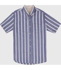camisa azul-blanco levis