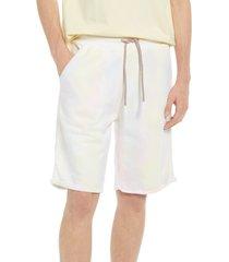 men's six week residency desert blossom tie dye sweat shorts, size large - grey
