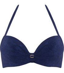puritsu push up bikini top | wired padded puritsu blue - 38c