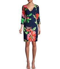 the tourist picturesque floral sheath dress