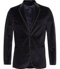 d2. slim velvet party blazer blazer colbert blauw gant