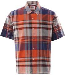 carsten madras check shirt - golden orange n40-0524 4039