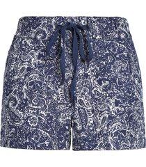 women's caslon linen shorts, size xx-large - blue