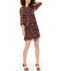 calvin klein petite printed shift dress