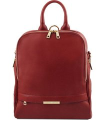tuscany leather tl141376 tl bag - zaino donna in pelle morbida rosso
