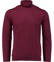 bos bright blue niels col washable merino spe17305ni19/677 - bos bright blue trui bordeaux 100% merinowol - bos bright blue pullover bordeaux 100% - -