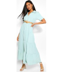 belted maxi dress, sage