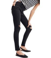 plus size women's madewell curvy high waist skinny jeans, size 37 - black