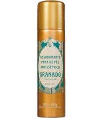 desodorante aerossol para pés granado - tradicional 100ml