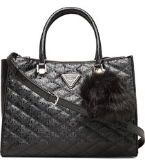 astrid large status satchel bags top handle bags zwart guess